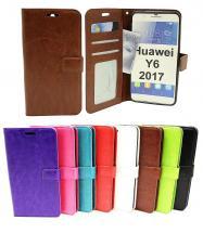 billigamobilskydd.se Crazy Horse Lompakko Huawei Y6 2017 (MYA-L41)