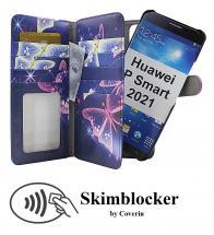 CoverIn Skimblocker XL Magnet Designwallet Huawei P Smart 2021