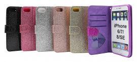 billigamobilskydd.se Standcase Glitter Wallet iPhone 6/7/8/SE 2nd Gen.