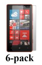 billigamobilskydd.se Kuuden kappaleen näytönsuojakalvopakett Nokia Lumia 820