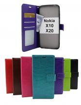 billigamobilskydd.se Crazy Horse Lompakko Nokia X10 / Nokia X20