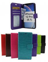 billigamobilskydd.se Crazy Horse Lompakko iPhone 12 Pro (6.1)