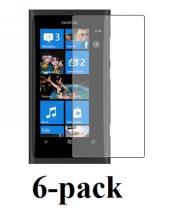 billigamobilskydd.se Kuuden kappaleen näytönsuojakalvopakett Nokia Lumia 800