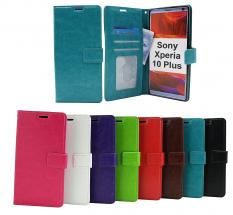 billigamobilskydd.se Crazy Horse Lompakko Sony Xperia 10 Plus