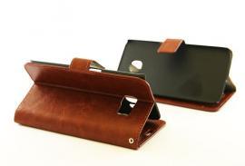 billigamobilskydd.se Crazy Horse Lompakko Samsung Galaxy S6 Edge (G925F) Brun