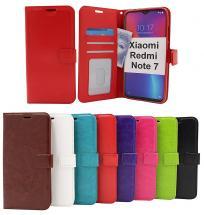billigamobilskydd.se Crazy Horse Lompakko Xiaomi Redmi Note 7