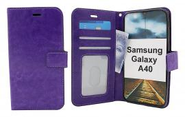billigamobilskydd.se Crazy Horse Lompakko Samsung Galaxy A40 (A405FN/DS)