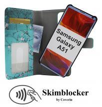CoverIn Skimblocker Design Magneettilompakko Samsung Galaxy A51 (A515F/DS)
