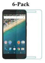 billigamobilskydd.se Kuuden kappaleen näytönsuojakalvopakett Google Nexus 5X (H791)