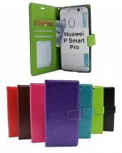 billigamobilskydd.se Crazy Horse Lompakko Huawei P Smart Pro (STK-L21)