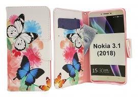 billigamobilskydd.se Kuviolompakko Nokia 3.1 (2018)