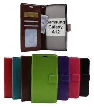 billigamobilskydd.se Crazy Horse Lompakko Samsung Galaxy A12 (A125F/DS)