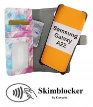 CoverIn Skimblocker Design Magneettilompakko Samsung Galaxy A22 (SM-A225F/DS)