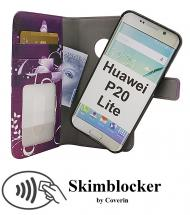 billigamobilskydd.se Skimblocker Design Magneettilompakko Huawei P20 Lite (ANE-LX1)