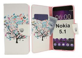 billigamobilskydd.se Kuviolompakko Nokia 5.1