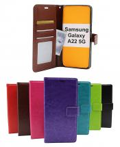 billigamobilskydd.se Crazy Horse Lompakko Samsung Galaxy A22 5G (SM-A226B)