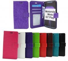 billigamobilskydd.se Crazy Horse Lompakko Motorola Moto G7 Play