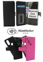 CoverIn Skimblocker Magneettikotelo Motorola One Vision