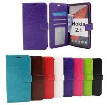 billigamobilskydd.se Crazy Horse Lompakko Nokia 2.1